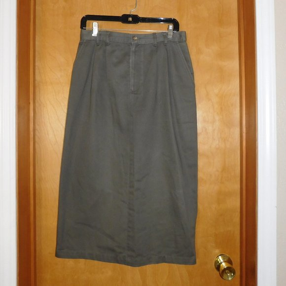 Christopher & Banks Dresses & Skirts - Christopher & Banks Green Khaki Skirt